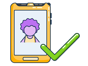 Illustration of a Samsung Tab Active 2 with a student being approved to board a school bus.